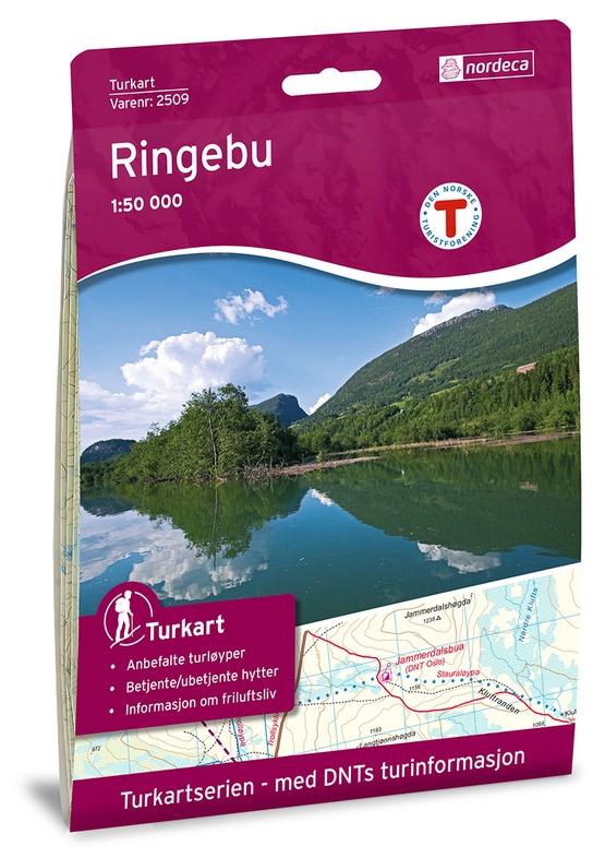 UG-2509  Ringebu | topografische wandelkaart 1:50.000 7046660025093  Nordeca / Ugland Turkart Norge 1:50.000  Wandelkaarten Noorwegen boven de Sognefjord