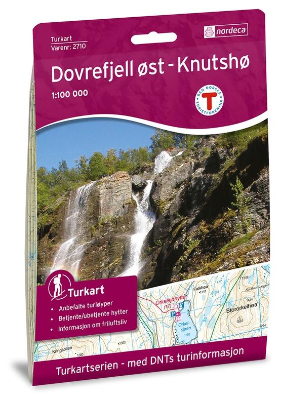 UG-2710 Dovrefjell Knutshø 1:100.000 7046660027103  Nordeca / Ugland Turkart Norge 1:100.000  Wandelkaarten Noorwegen boven de Sognefjord