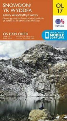 EXP-017  Snowdonia and Conwy Valley areas | wandelkaart 1:25.000 9780319263532  Ordnance Survey Explorer Maps 1:25t.  Wandelkaarten Noord-Wales, Anglesey, Snowdonia