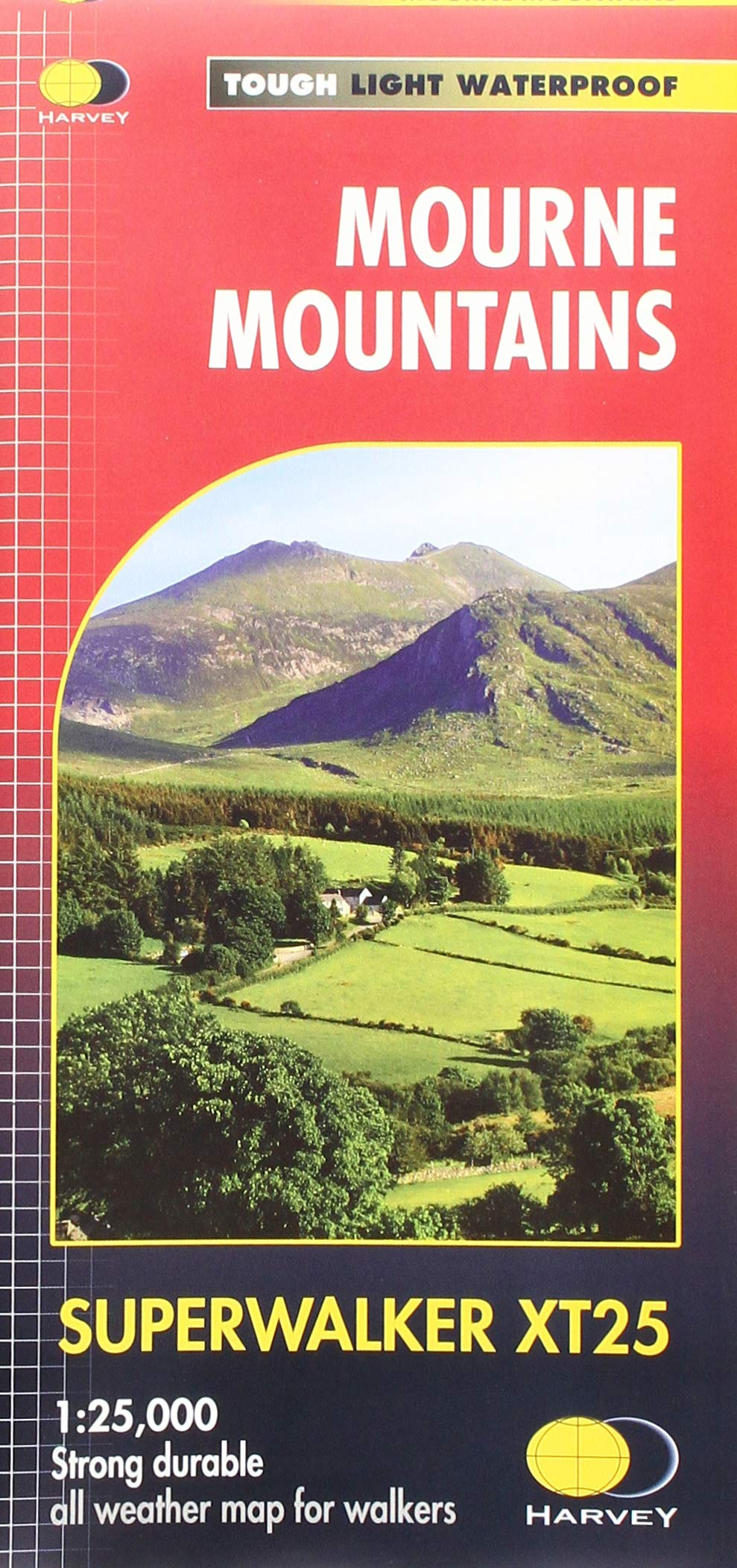 Mourne Mountains waterproof map | wandelkaart 1:40.000 9781851376124  Harvey Maps   Wandelkaarten Belfast, Ulster