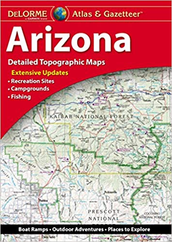 Arizona Delorme Atlas & Gazetteer 9781946494146  Delorme Delorme Atlassen  Wegenatlassen Colorado, Arizona, Utah, New Mexico