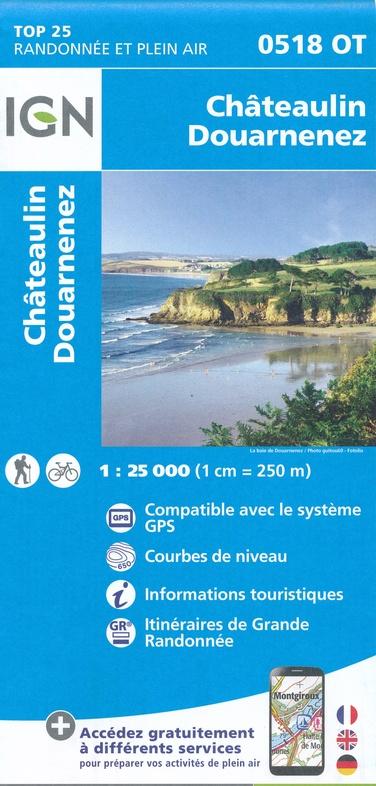 0518OT  omgeving Ménez Hom, Châteaulin | wandelkaart 1:25.000 9782758541004  IGN IGN 25 Bretagne  Wandelkaarten Bretagne