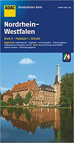 Nordrhein-Westfalen 1:300.000 9783826423185  ADAC Bundesländerkarten  Landkaarten en wegenkaarten Nordrhein-Westfalen