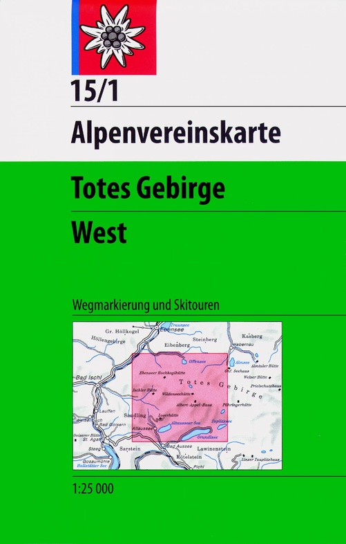 AV-15/1 Totes Gebirge West [2014] Alpenvereinskarte wandelkaart 9783928777292  AlpenVerein Alpenvereinskarten  Wandelkaarten Salzburg, Karinthië, Tauern, Stiermarken