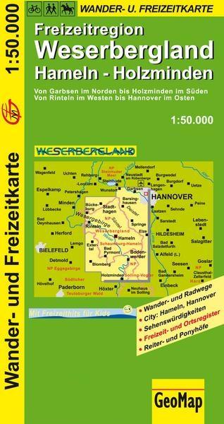 Weserbergland 1:50.000 9783959650083  GeoMap   Fietskaarten, Wandelkaarten Lüneburger Heide, Hannover, Weserbergland