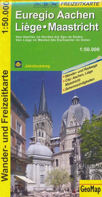 Euregio Aachen-Liege-Maastricht 1:50.000 9783959650090  GeoMap Wandelkaarten Eifel  Wandelkaarten Aken, Keulen en Bonn, Wallonië (Ardennen)