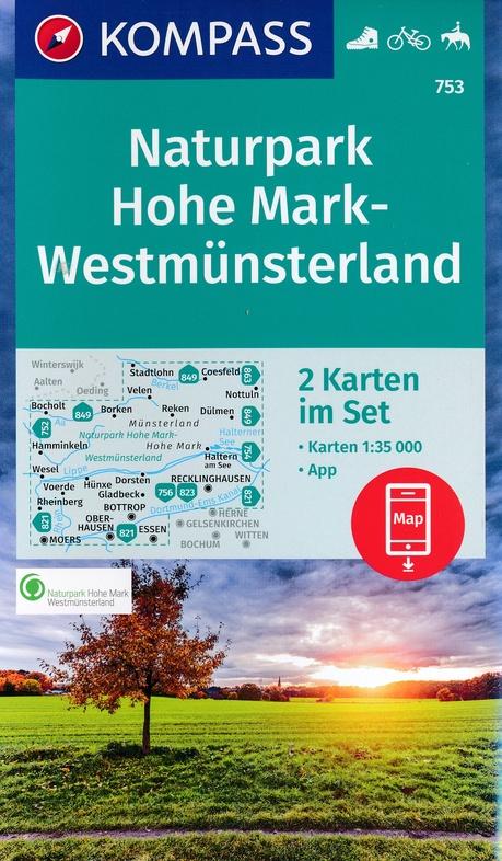 KP-753 NP Hohe Mark | Kompass wandelkaart 9783990444825  Kompass Wandelkaarten Kompass Duitsland  Wandelkaarten Münsterland, Bentheim