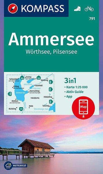 wandelkaart KP-791 Ammersee, Wörthsee 1:25.000 9783990445938  Kompass Wandelkaarten Kompass Oberbayern  Wandelkaarten Beierse Alpen