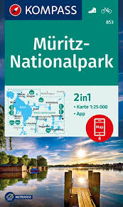 KP-853  Müritz-Nationalpark | Kompass 9783990446935  Kompass Wandelkaarten Kompass Duitsland  Wandelkaarten Mecklenburg-Vorpommern