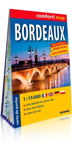 Bordeaux geplastificeerde stadsplattegrond 1:15.000 9788380463479  Express Map   Stadsplattegronden Aquitaine, Bordeaux