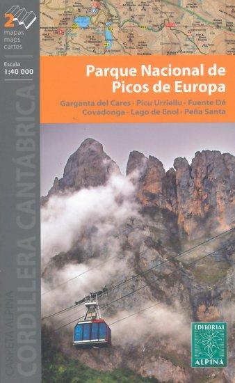 Picos de Europa wandelkaart 9788480907804  Editorial Alpina Wandelkaarten Spanje  Wandelkaarten Picos de Europa