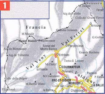 ESC-01  Monte Bianco, Courmayeur | wandelkaart 1:25.000 9788898520770  Escursionista Carta dei Sentieri 1:25.000  Wandelkaarten Aosta, Gran Paradiso