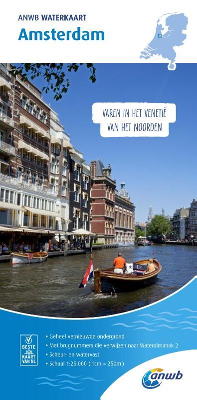 Amsterdam Waterkaart 9789018044916  ANWB ANWB Waterkaarten  Watersportboeken Amsterdam