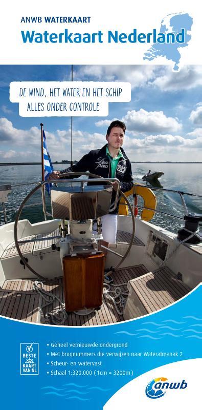 Nederland Waterkaart 1:320.000 9789018044923  ANWB ANWB Waterkaarten  Watersportboeken Nederland