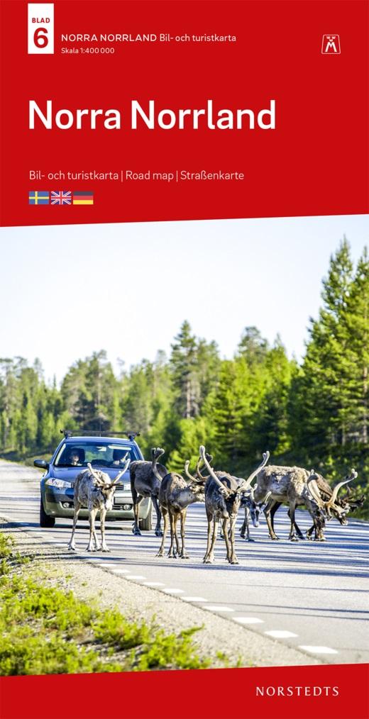 SE-6  Norra Norrland 1:400.000 9789113084206  Kartförlaget - Lantmäteriet Bil- och Turistkarta  Landkaarten en wegenkaarten Zweden boven Uppsala