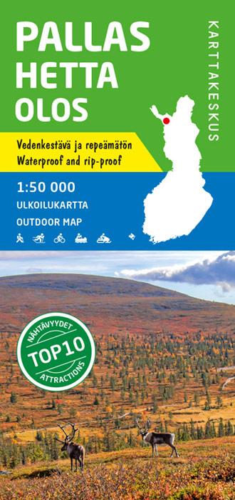 Pallas Hetta Olos 1:50.000, wandelkaart, skikaart 9789522664822  Genimap Oy Wandelkaarten Finland  Wandelkaarten Finland