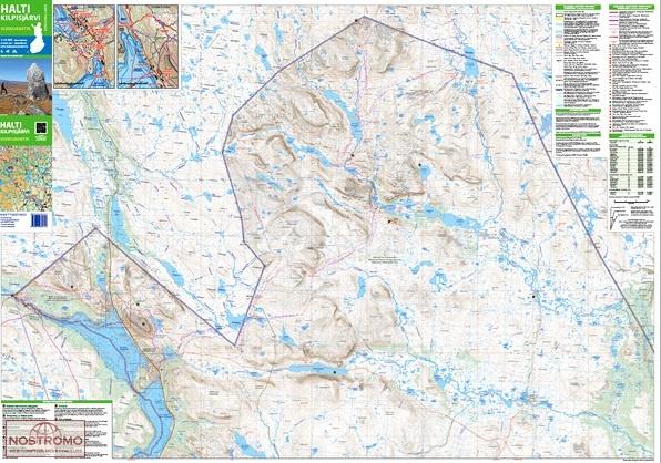 Halti-Kilpisjärvi 1:50.000 9789522665928  Genimap Oy Wandelkaarten Finland  Wandelkaarten Finland