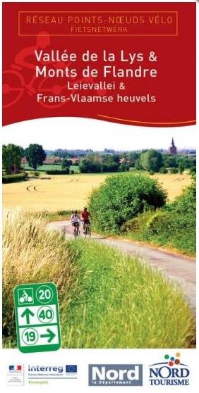 Fietsnetwerkkaart Leievallei & Frans-Vlaamse heuvels 1:200.000 3770004532070  Nord Tourisme   Fietskaarten Picardie, Nord
