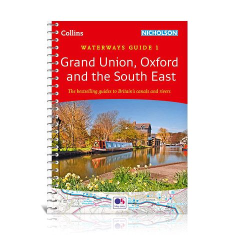 WG-01 Grand Union, Oxford and The South East 9780008146528  Collins, Nicholson Waterways Guides  Watersportboeken Kent, Sussex, Isle of Wight