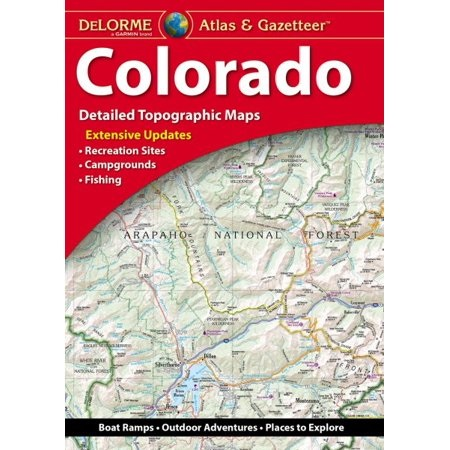 Colorado Delorme Atlas & Gazetteer 9781946494177  Delorme Delorme Atlassen  Wegenatlassen Colorado, Arizona, Utah, New Mexico