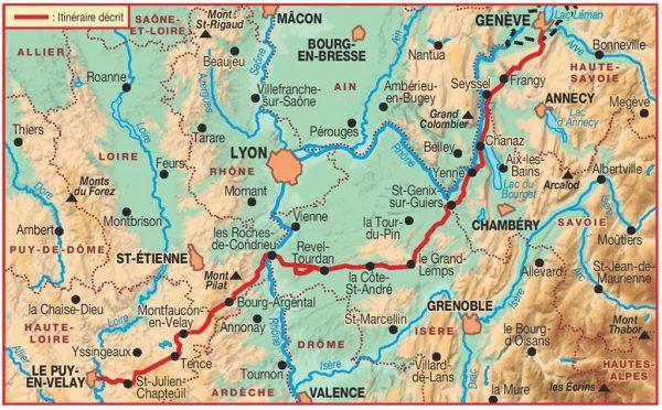 TG-650  Genève - Le Puy    wandelgids GR-65 9782751403569  FFRP topoguides à grande randonnée  Santiago de Compostela, Wandelgidsen Frankrijk
