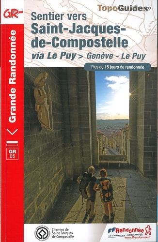 TG-650  Genève - Le Puy  | wandelgids GR-65 9782751403569  FFRP topoguides à grande randonnée  Santiago de Compostela, Wandelgidsen Frankrijk