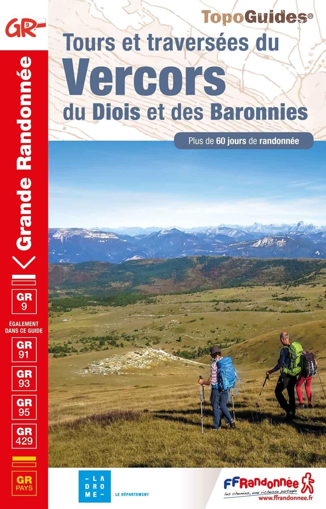TG-904  Vercors, Diois, Baronnies; GR9 9782751403910  FFRP topoguides à grande randonnée  Meerdaagse wandelroutes, Wandelgidsen Ardèche, Drôme, Franse Alpen: noord