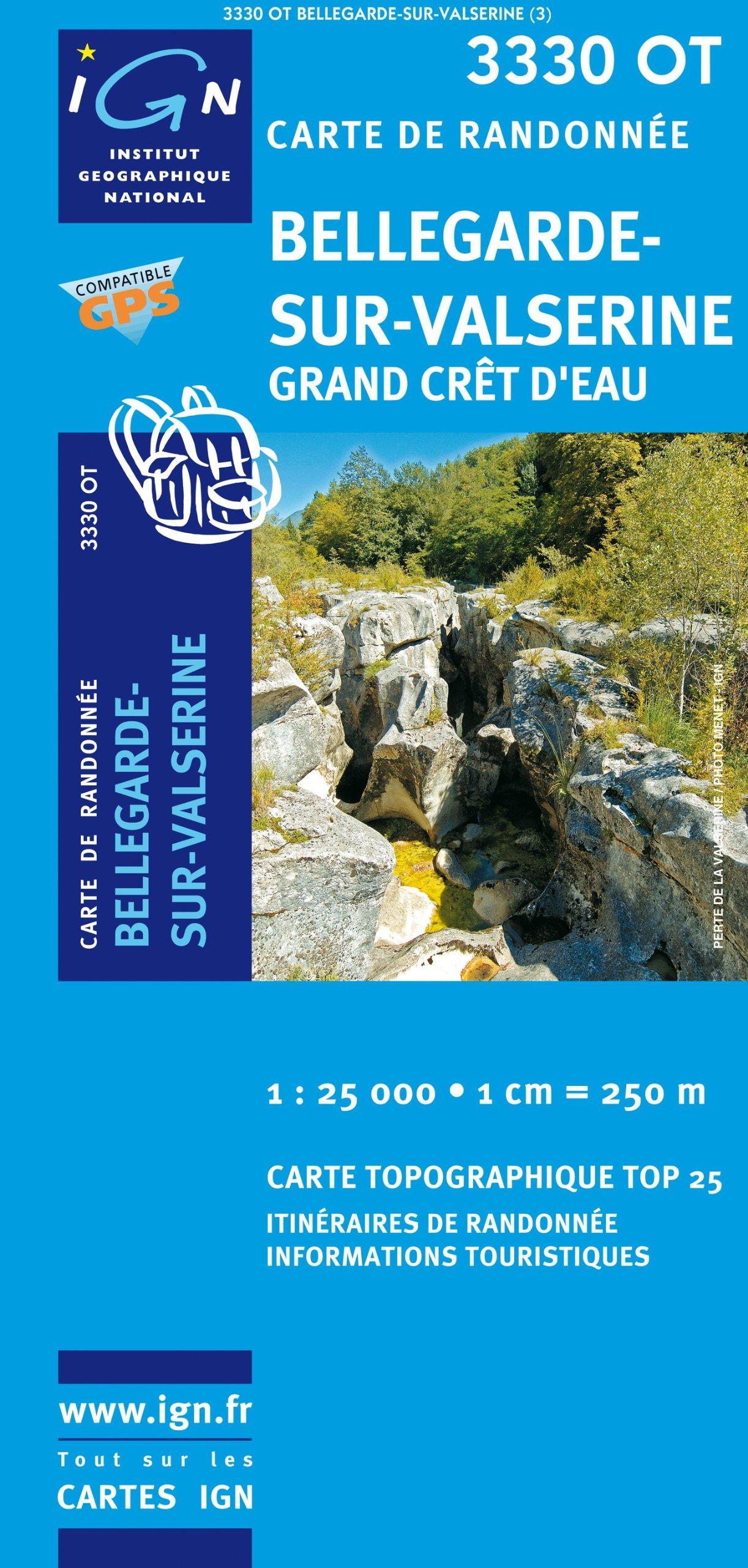 3330OT   Bellegarde-sur-Valserine | wandelkaart 1:25.000 * 9782758505150  IGN IGN 25 Jura (F)  Wandelkaarten Franse Jura