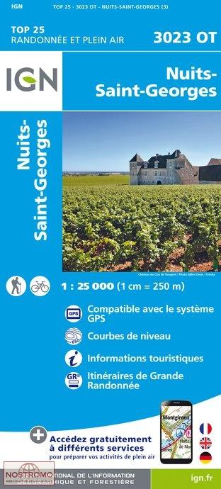 3023OT  Nuits-St-Georges | wandelkaart 1:25.000 9782758536154  IGN TOP 25  Wandelkaarten, Wijnreisgidsen Bourgogne