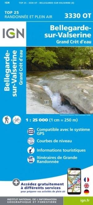 3330OT   Bellegarde-sur-Valserine | wandelkaart 1:25.000 9782758539858  IGN TOP 25  Wandelkaarten Franse Jura