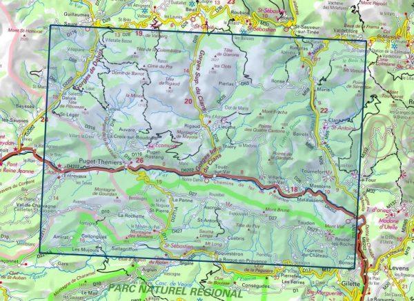 3641OT   Moyen Var   wandelkaart 1:25.000 9782758542865  IGN IGN 25 Franse Alpen/ zuidhelft  Wandelkaarten Franse Alpen: zuid