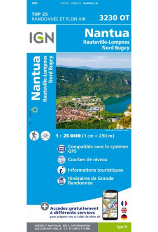 3230OT Poncin, Brénod, Nantua | wandelkaart 1:25.000 9782758543244  IGN IGN 25 Omgeving Lyon  Wandelkaarten Lyon en omgeving