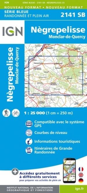 SB-2141SB  Nègrepelisse, Montricoux | wandelkaart 1:25.000 9782758546160  IGN Serie Bleue (vernieuwd)  Wandelkaarten Lot, Tarn, Toulouse