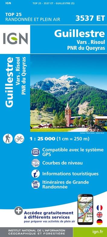3537ET   Guillestre, Vars, Risoul | wandelkaart 1:25.000 9782758546740  IGN TOP 25  Wandelkaarten Franse Alpen: zuid