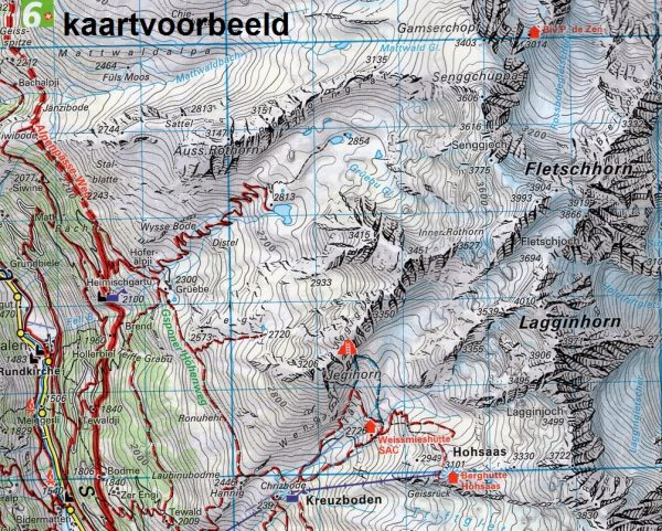 KFW-22 Grand-St.Bernard/ Dents du Midi   wandelkaart / overzichtskaart 9783259022221  Kümmerly & Frey Wandelkaarten Zwitserland  Wandelkaarten Wallis