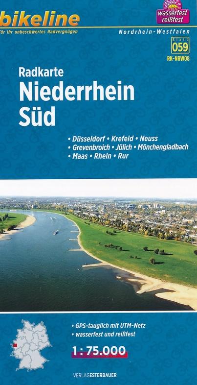 RK-NRW08  Niederrhein Süd  1:75.000 9783850003896  Esterbauer Bikeline Radkarten  Fietskaarten Niederrhein