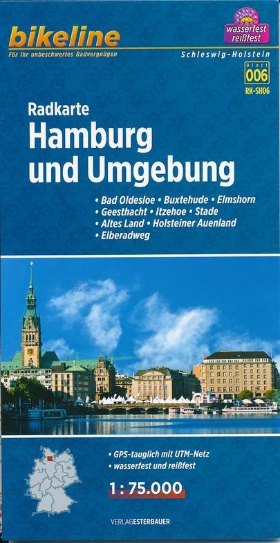 RK-SH06  Hamburg und Umgebung 1:75.000 9783850004077  Esterbauer Bikeline Radkarten  Fietskaarten Hamburg