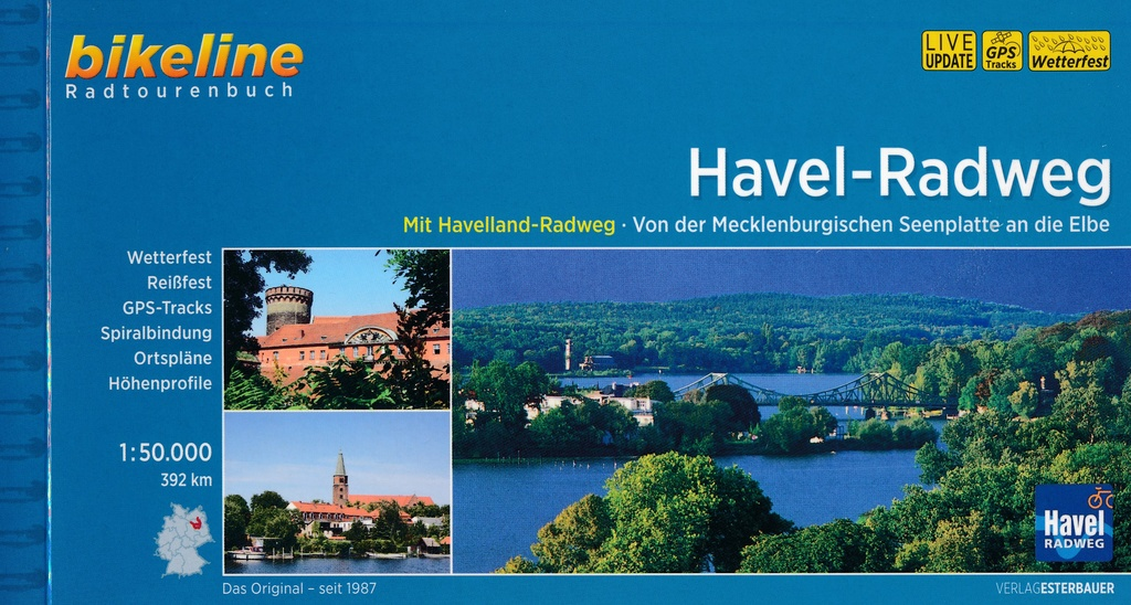 Bikeline Havel-Radweg Mecklenburgische Seenplatte - Elbe | fietsgids 9783850007733  Esterbauer Bikeline  Fietsgidsen Brandenburg & Sachsen-Anhalt