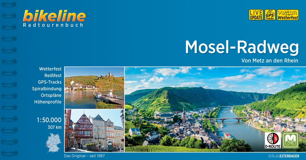 Bikeline Mosel-Radweg | fietsgids 9783850007825  Esterbauer Bikeline  Fietsgidsen, Meerdaagse fietsvakanties Moezel, van Trier tot Koblenz