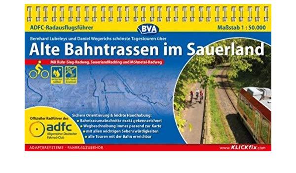 ADFC-Radausflugsführer Alte Bahntrassen im Sauerland 9783870736118  ADFC   Fietsgidsen Sauerland