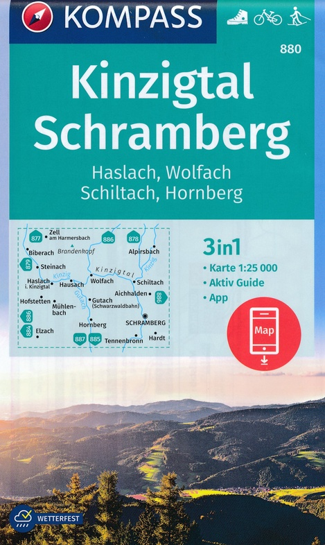 KP-880  Kinzigtal - Schramberg | Kompass 9783990445990  Kompass Wandelkaarten Kompass Duitsland  Wandelkaarten Zwarte Woud