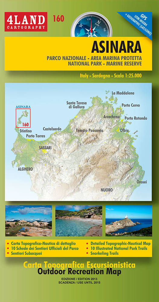 IM-160  Asinara | wandelkaart 1:25.000 9788889823583  Idea Montagna 4LAND  Wandelkaarten Sardinië