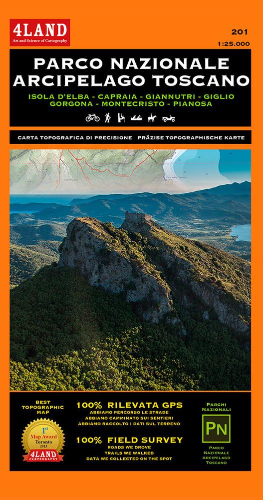 Parco Nazionale Arcipelago Toscano | wandelkaart 1:25.000 9788889823637  Idea Montagna   Wandelkaarten Toscane, Florence