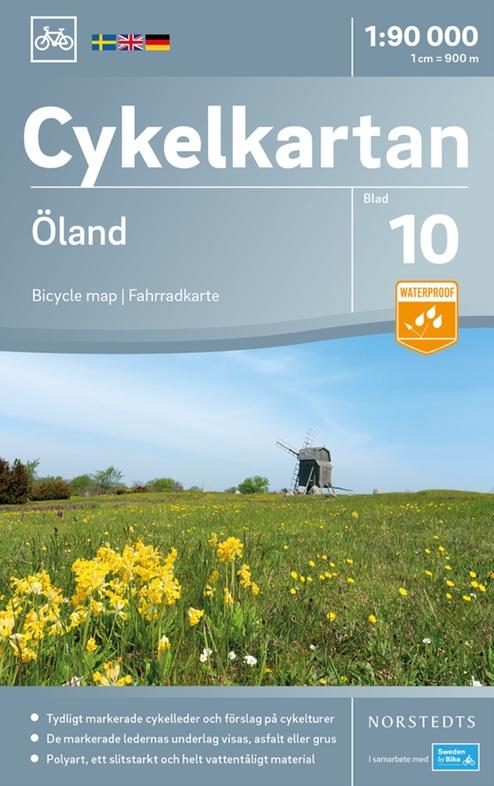NC-10  Öland 1:90.000 9789113083940  Norstedts Cykelkartan Fietskaarten Zweden  Fietskaarten Zuid-Zweden