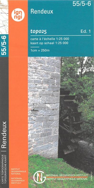 NGI-55/5-6  Rendeux | topografische wandelkaart 1:25.000 9789462352377  NGI Belgie 1:20.000/25.000  Wandelkaarten Wallonië (Ardennen)