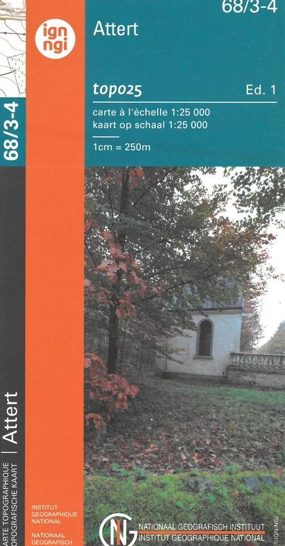NGI-68/3-4  Nobresart - Attert | topografische wandelkaart 1:20.000 9789462353091  NGI Belgie 1:20.000/25.000  Wandelkaarten Wallonië (Ardennen)