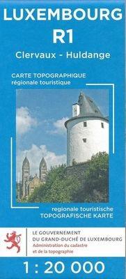 Lux. R01  Clervaux 1:20.000 R1 wandelkaart LUXR01  Le Gouvernement du Grand-Duché Wandelkaarten Luxemburg  Wandelkaarten Luxemburg