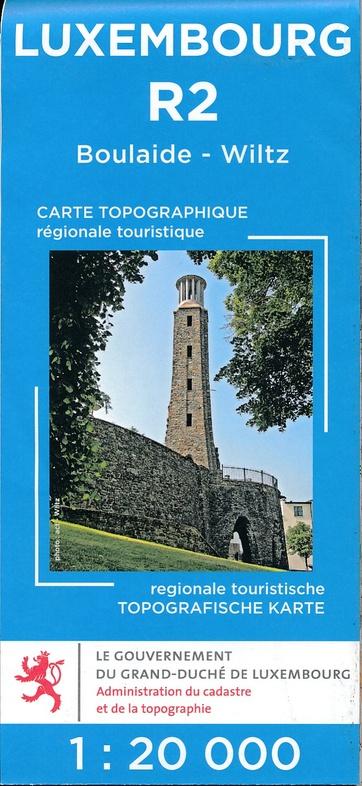 Lux. R02  Wiltz 1:20.000 R2 wandelkaart LUXR02  Le Gouvernement du Grand-Duché Wandelkaarten Luxemburg  Wandelkaarten Luxemburg