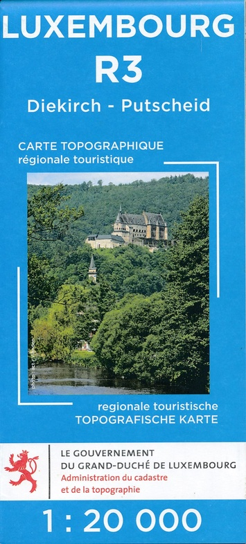 Lux. R03  Vianden/Diekirch 1:20.000 R3 wandelkaart LUXR03  Le Gouvernement du Grand-Duché Wandelkaarten Luxemburg  Wandelkaarten Luxemburg