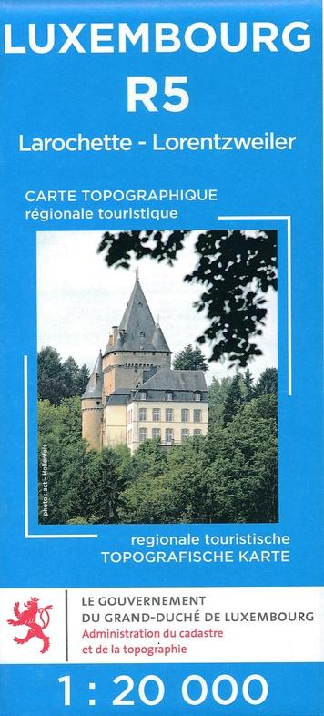 Lux. R05  Larochette - Lorentzweiler 1:20.000 R5 wandelkaart LUXR05  Le Gouvernement du Grand-Duché Wandelkaarten Luxemburg  Wandelkaarten Luxemburg